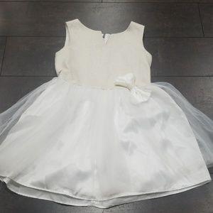 tulle skirt white ivory shimmer flare dress 7